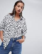 Prettylittlething Dalmatian Print Shirt