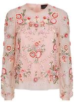Needle & Thread Meadow Sheer Embellished Shirt