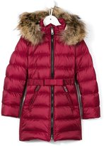 Burberry fur hooded padded coat