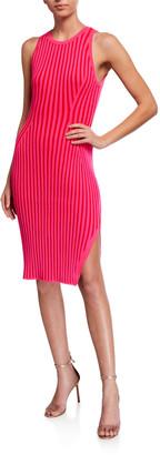 Milly Rid Striped Sleeveless Bodycon Dress