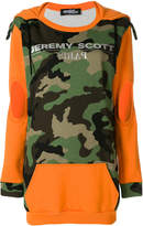 Jeremy Scott camouflage hooded dress