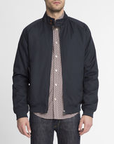 Ben Sherman Navy Blue Quilted Jacket with Buttoned Collar