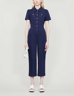 Whistles Emma cotton-blend jumpsuit