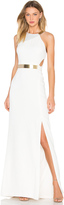 Halston Asymmetic Strap Dress