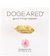 Dogeared 14K Gold Plated Sterling Silver Nugget Ring - Size 7