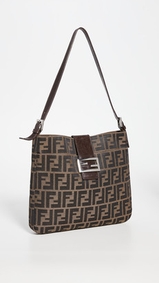 What Goes Around Comes Around Fendi Brown Zucca Hobo