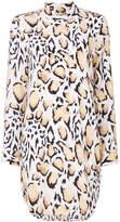 Equipment animal print buttoned dress
