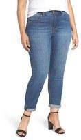 Melissa McCarthy Plus Size Women's Roll Cuff Straight Leg Jeans