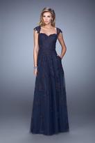 La Femme 20558 Embellished Sweetheart A-line Dress