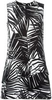 Marc Jacobs leaf print flared dress - women - - 6