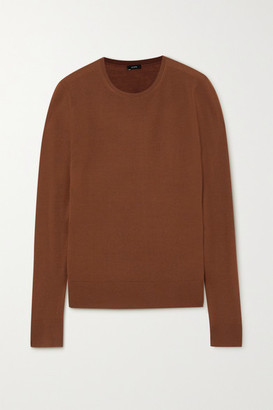 Joseph Merino Wool Sweater - Brick