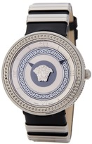 Versace Women's V-Metal Icon Leather Strap Watch