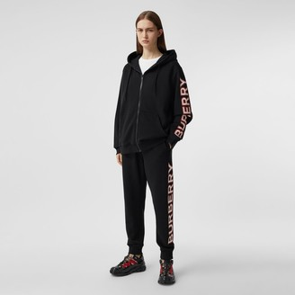 Burberry Logo Print Cotton Jogging Pants