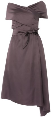 Dalba Plum Silk-Blend Dress
