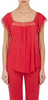Eberjey WOMEN'S CASSANDRA LACE-TRIMMED JERSEY CAMISOLE-RED SIZE S