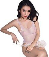 GO.Love GO Love Women's Sexy Silky Sheer Tank Thong Bodysuit Lingerie