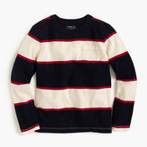 J.Crew Boys' long-sleeve rugby-stripe pocket T-shirt