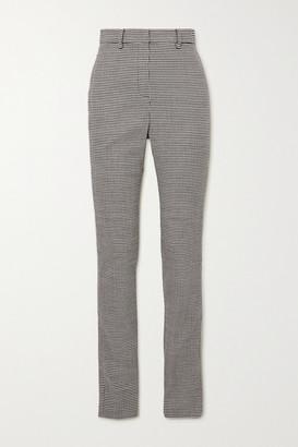 Magda Butrym Houndstooth Wool-blend Slim-leg Pants - Gray