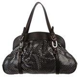 Marni Woven Leather & PVC Shoulder Bag