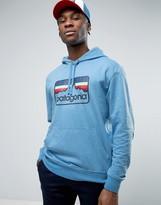 Patagonia Line Logo Badge Hoodie Lightweight In Blue Marl