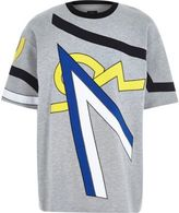 River Island MensGrey Design Forum appliqué t-shirt