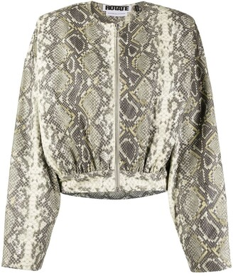 Rotate by Birger Christensen Snakeskin Print Jacket