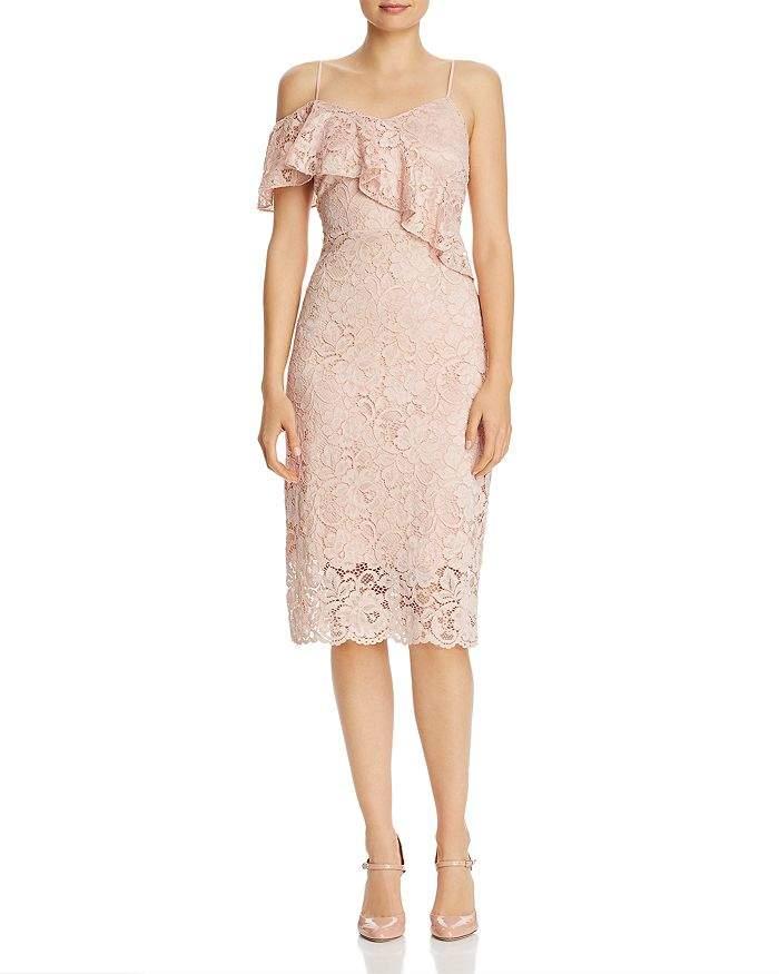Sam Edelman Lace Cold-Shoulder Dress