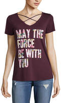 Fifth Sun Short Sleeve V Neck Star Wars Graphic T-Shirt