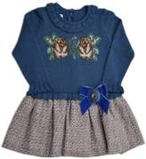 Foque Knitted Roses Dress