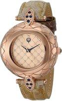 Brillier Women's 30-02 Analog Display Swiss Quartz Brown Watch