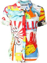 Moschino mixed print shirt - women - Silk/Cotton - 42