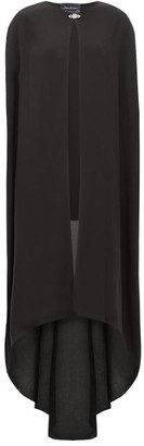 Julie De Libran - Crystal-embellished Silk Crepe De Chine Cape - Black