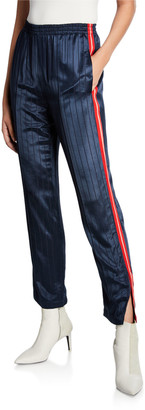 Rag & Bone Ryan Striped Split-Hem Track Pants