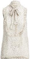 Denim & Supply Ralph Lauren Floral-Print Tie-Neck Blouse