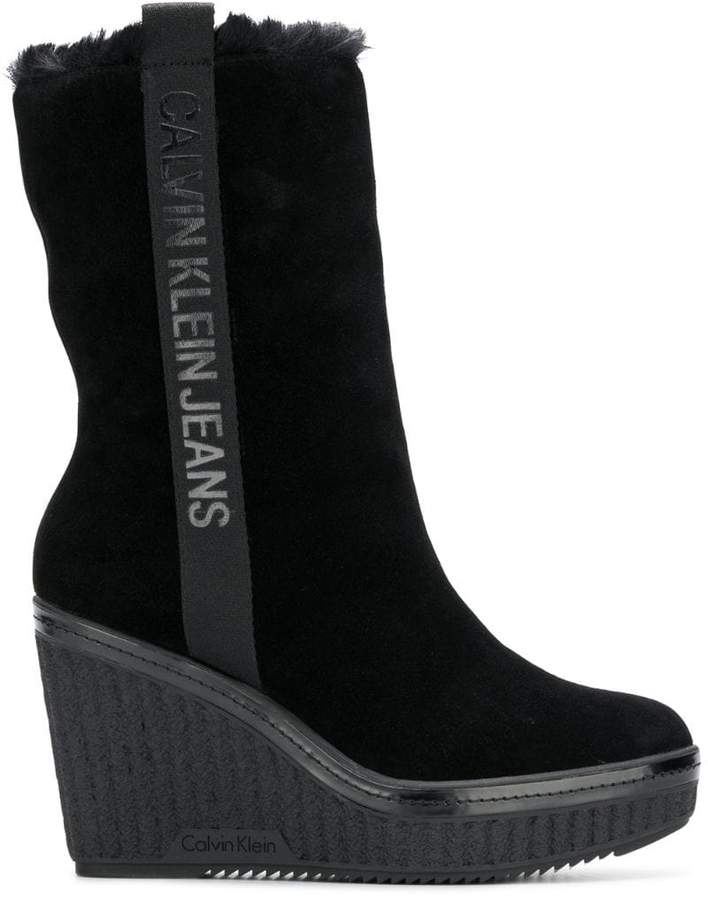 Calvin Klein Jeans wedge boots