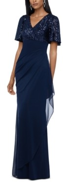 Xscape Evenings Petite Sequined A-Line Gown