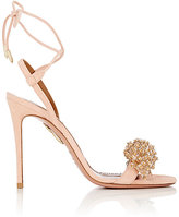 Aquazzura Women's Monaco Suede Sandals-PINK