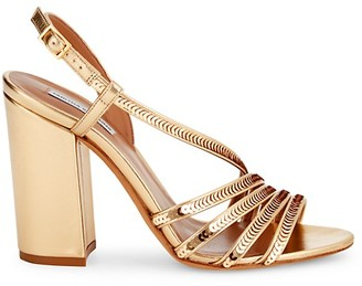 Tabitha Simmons Viola Sequin-Embellished Leather Ankle-Strap Sandals