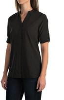 Woolrich Rendezvous Split Neck Shirt - UPF 25+, Roll-Up 3/4 Sleeve (For Women)