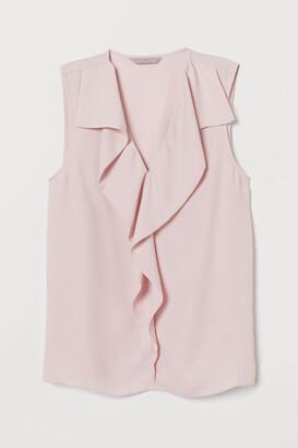 H&M Flounced satin blouse