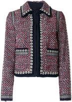 Tory Burch collared tweed jacket - women - Acrylic/Polyamide/Polyester - 4