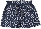 Velveteen Embroidered Bermuda Shorts, Sizes 4-6