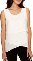Bisou Bisou Sleeveless Tiered High-Low Tunic Top