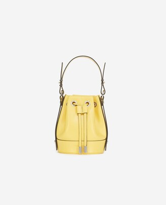 The Kooples Nano Tina bag in smooth yellow leather