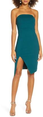 Lulus Strapless Cocktail Sheath Dress