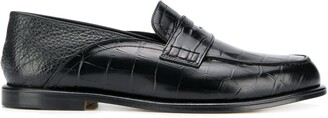 Loewe Croc-Effect Loafers