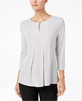 Charter Club Dotted Keyhole Top, Created for Macy's