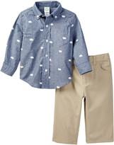 Little Me Bear Print Woven Pant Set (Baby Boys)