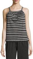 Max Studio Sleeveless Novelty-Knit Top, Black/White