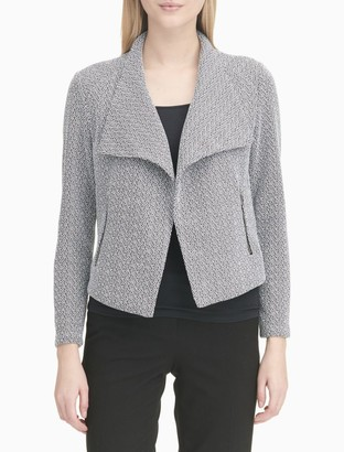 Calvin Klein Slub Knit Flyaway Jacket